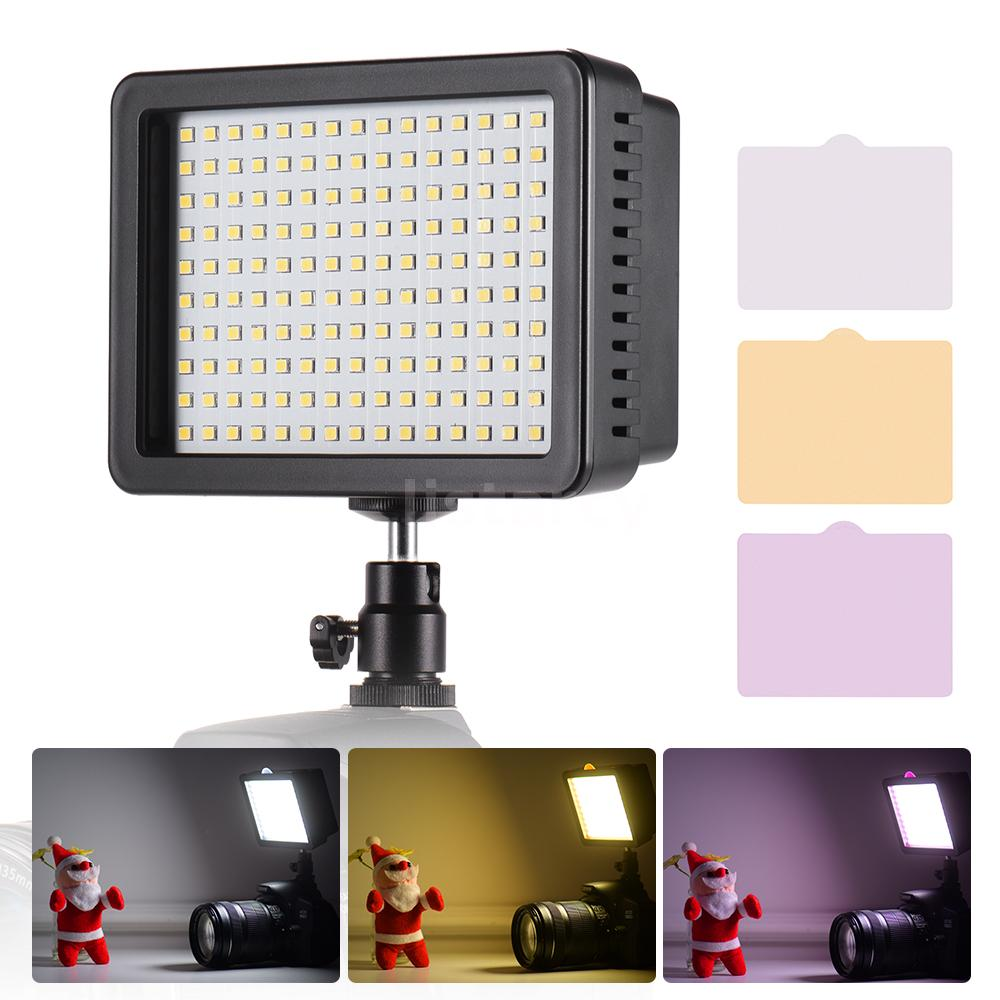 Andoer Portable 160pcs LED Video Light Lamp 5600K Color Temperaure with  Y8D8 | eBay
